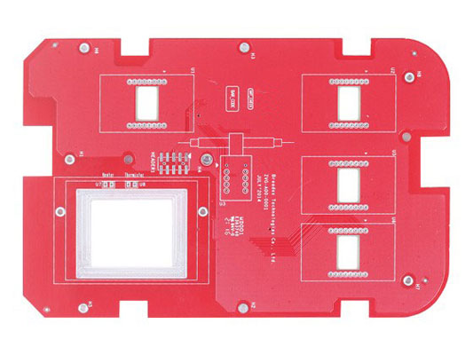 2-layer red HASL PCB