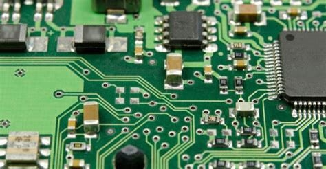 Surface Mount Components on PCB board