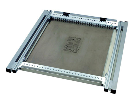 Picture of PCB stencil with frame