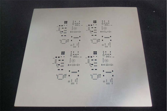 Picture of PCB stencil without frame