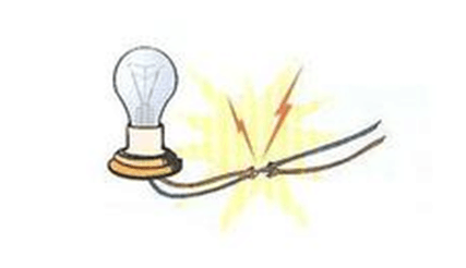 Spark Caused by Electrical Short Circuits